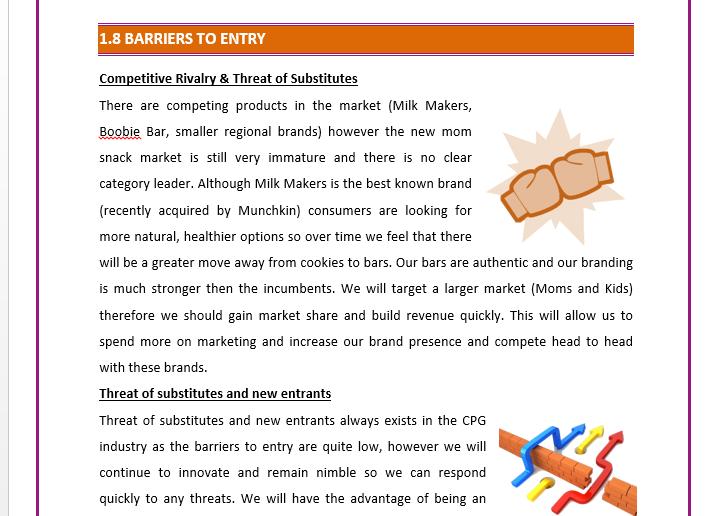 Business Plan of an Online Nutrition Bar Business