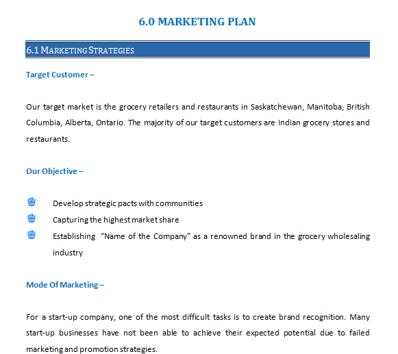 Business Plan of Import and Supply Chain of Grocery