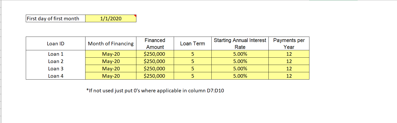 Equipment Rental DCF Analysis and Operating Model