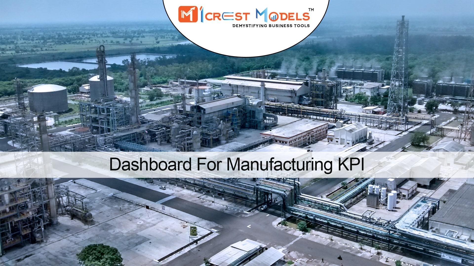 Dashboard For Manufacturing KPI