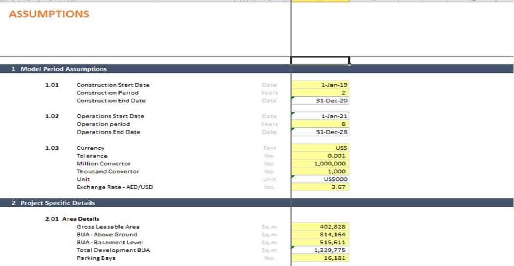 Project Finance – Commercial Real Estate Excel Model