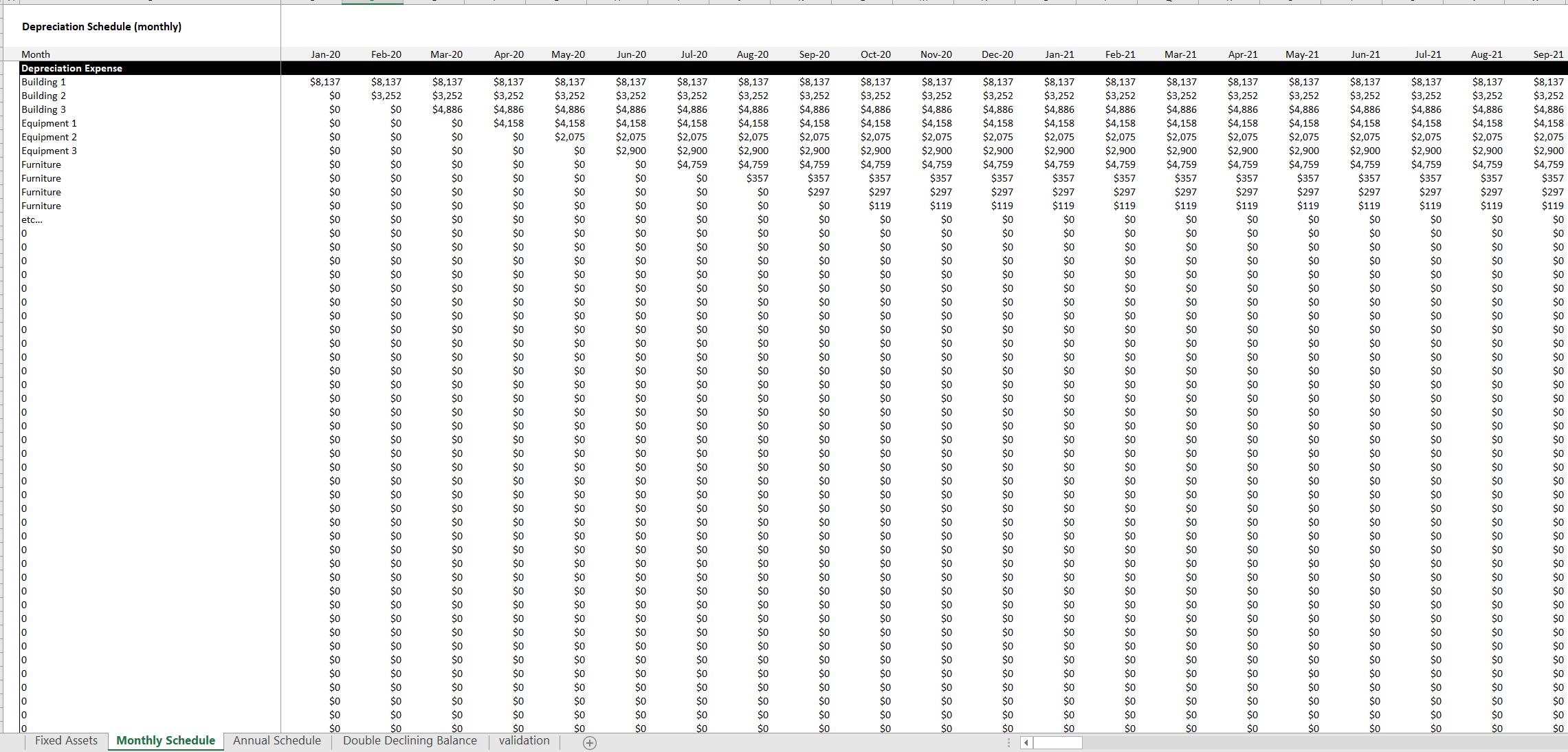 Depreciation Expense Tracker: Excel Template
