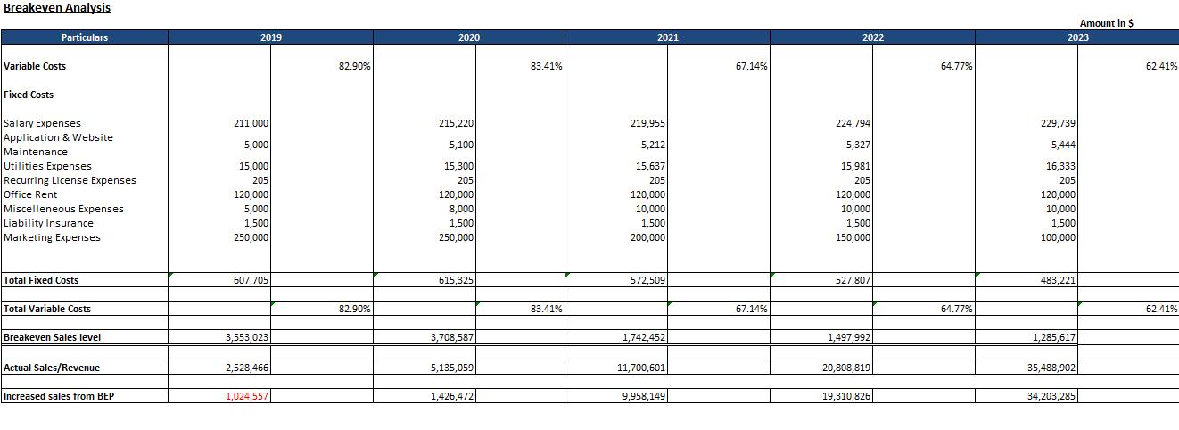 Financial Model of E-Pharmacy Business