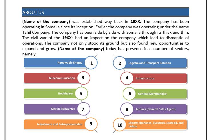 Somalia based Printing Press Business Plan