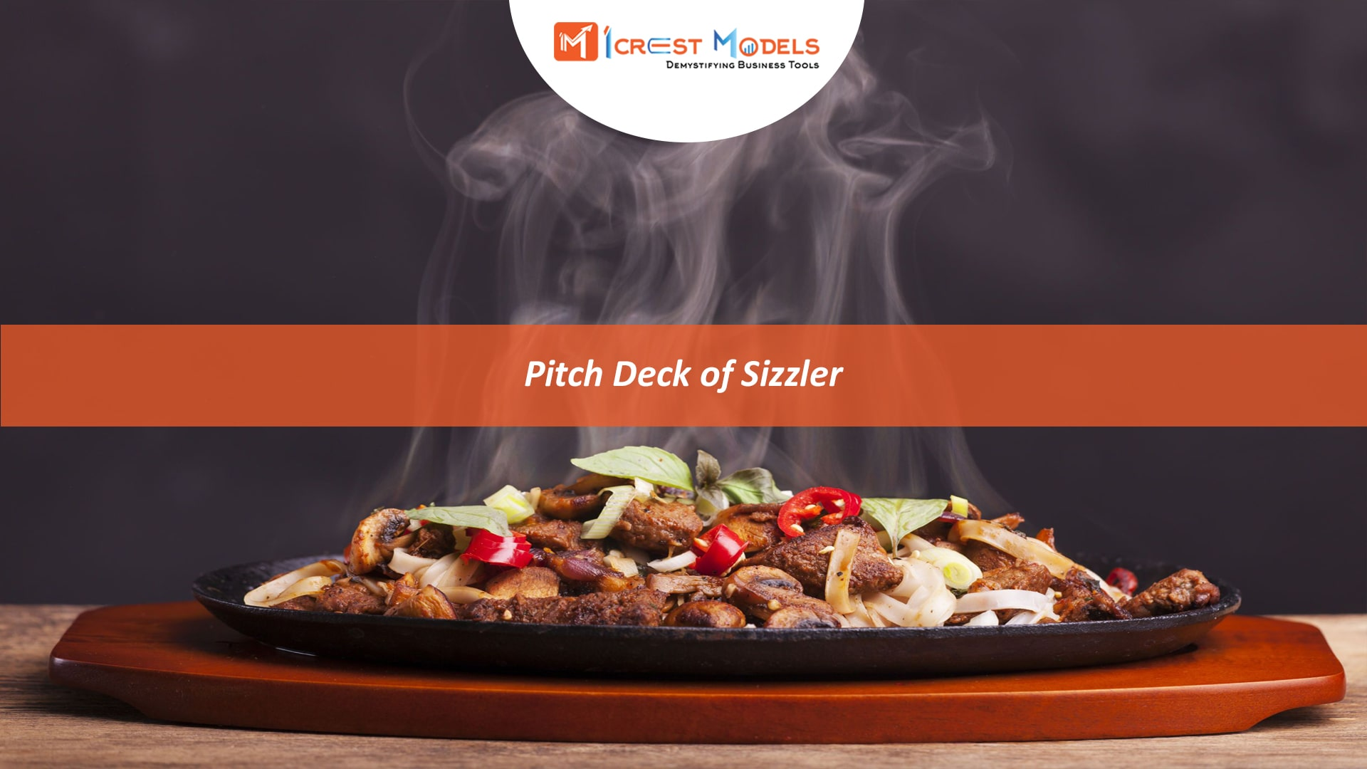 Pitch Deck of a Sizzler Cafe and Restaurant