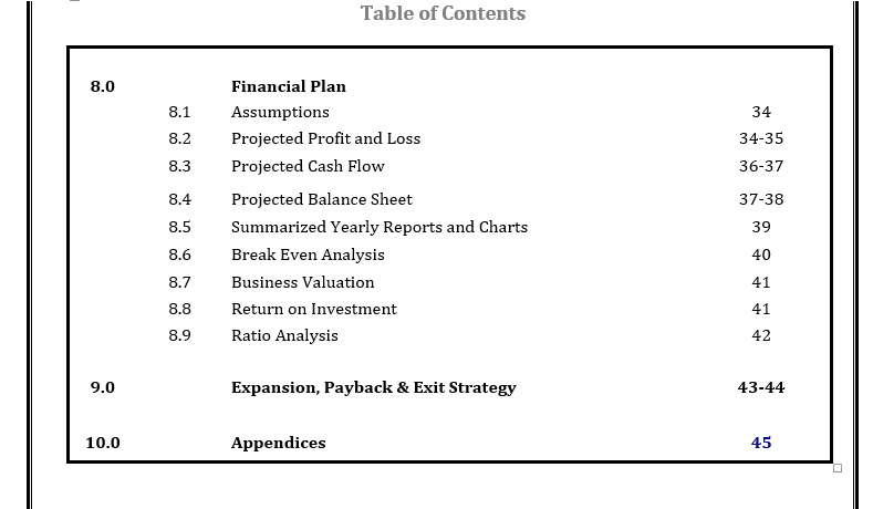 Business Plan For Football Business
