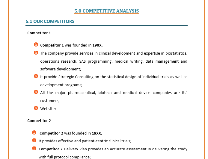 Business Plan of Clinical Trial