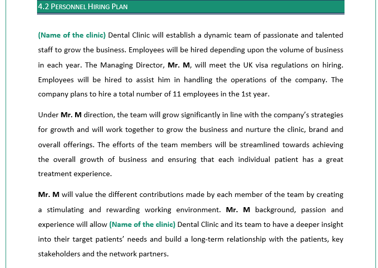 Business Plan of Dental Clinic