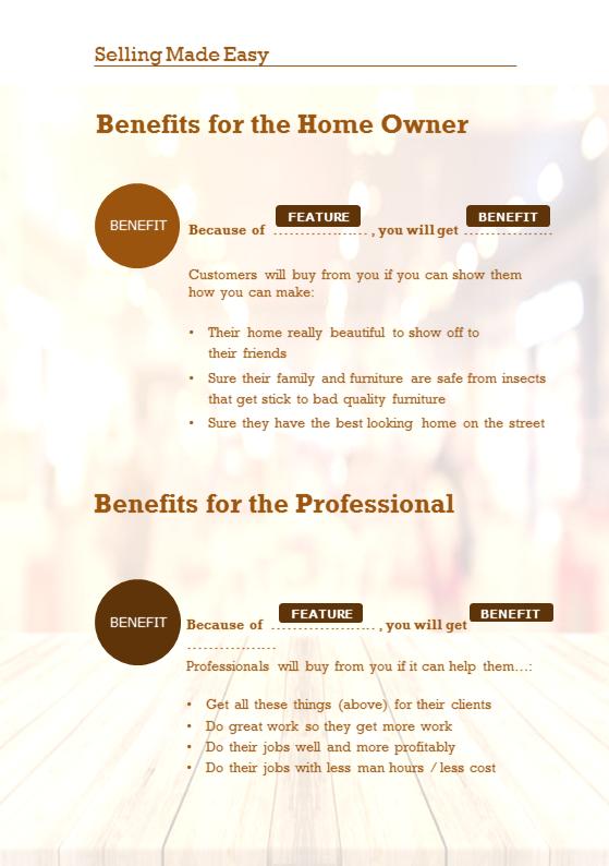 Selling Made Easy! Workbook