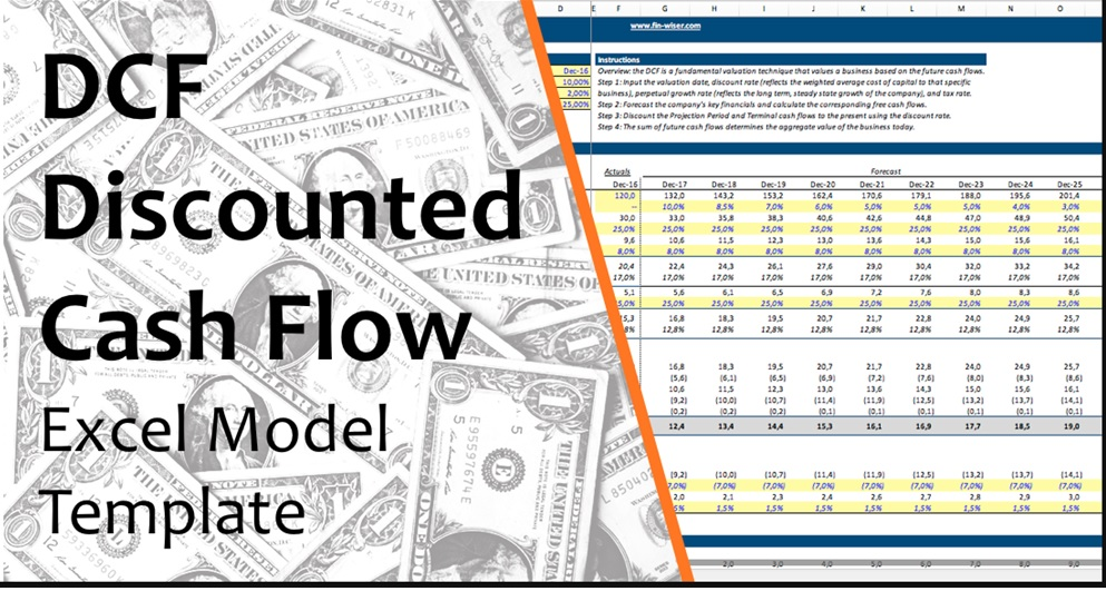Single Sheet DCF (Discounted Cash Flow) Excel Template