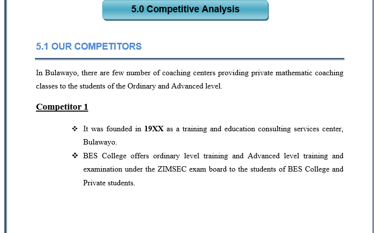 Business Plan of Online Mathematical Education Center